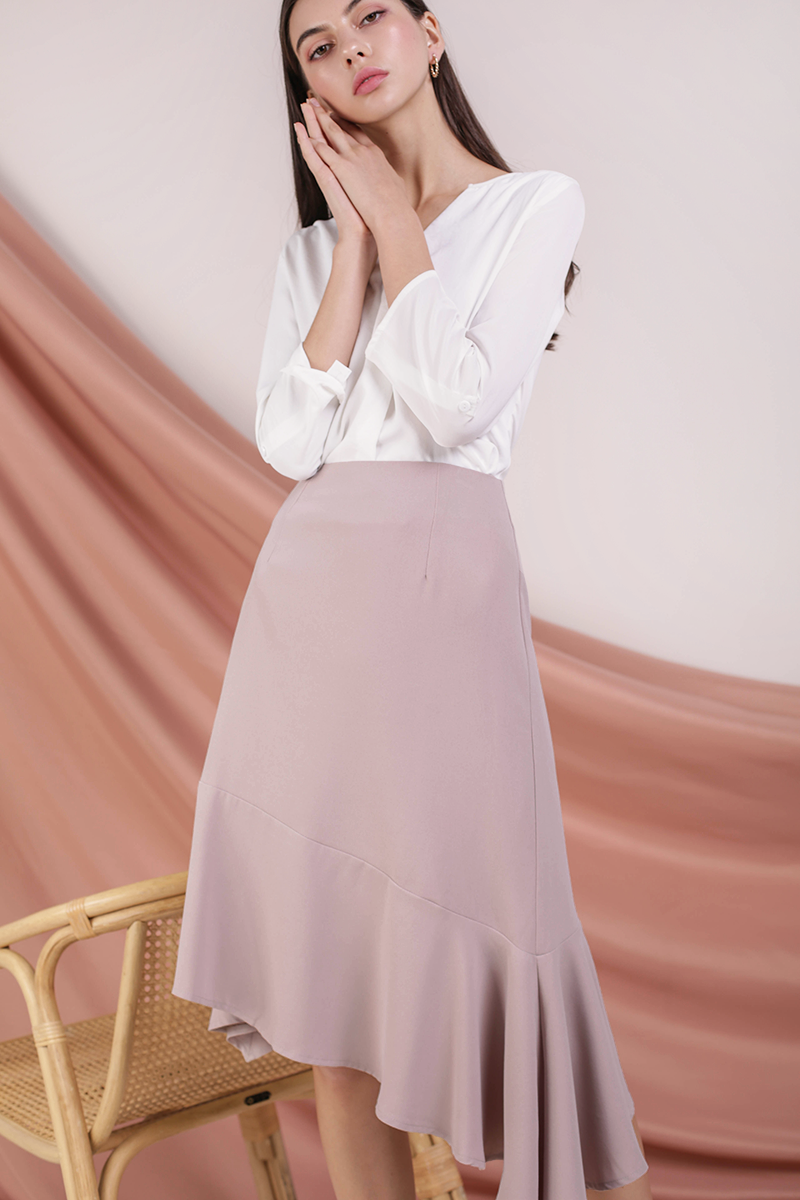 *BACKORDER* Kerry Origami Blouse (White)