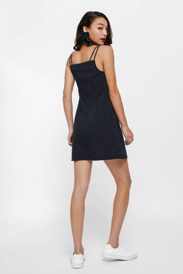 Linette Pinstripe Camisole Dress