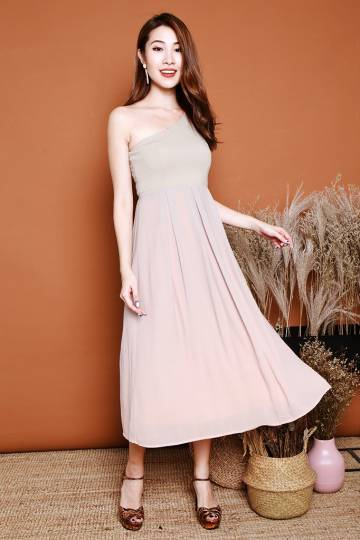 Alaina Ombre Toga Midi - Light Grey/ Pink [XS/S/M/L/XL]