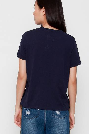 Billy Button Top in Blue