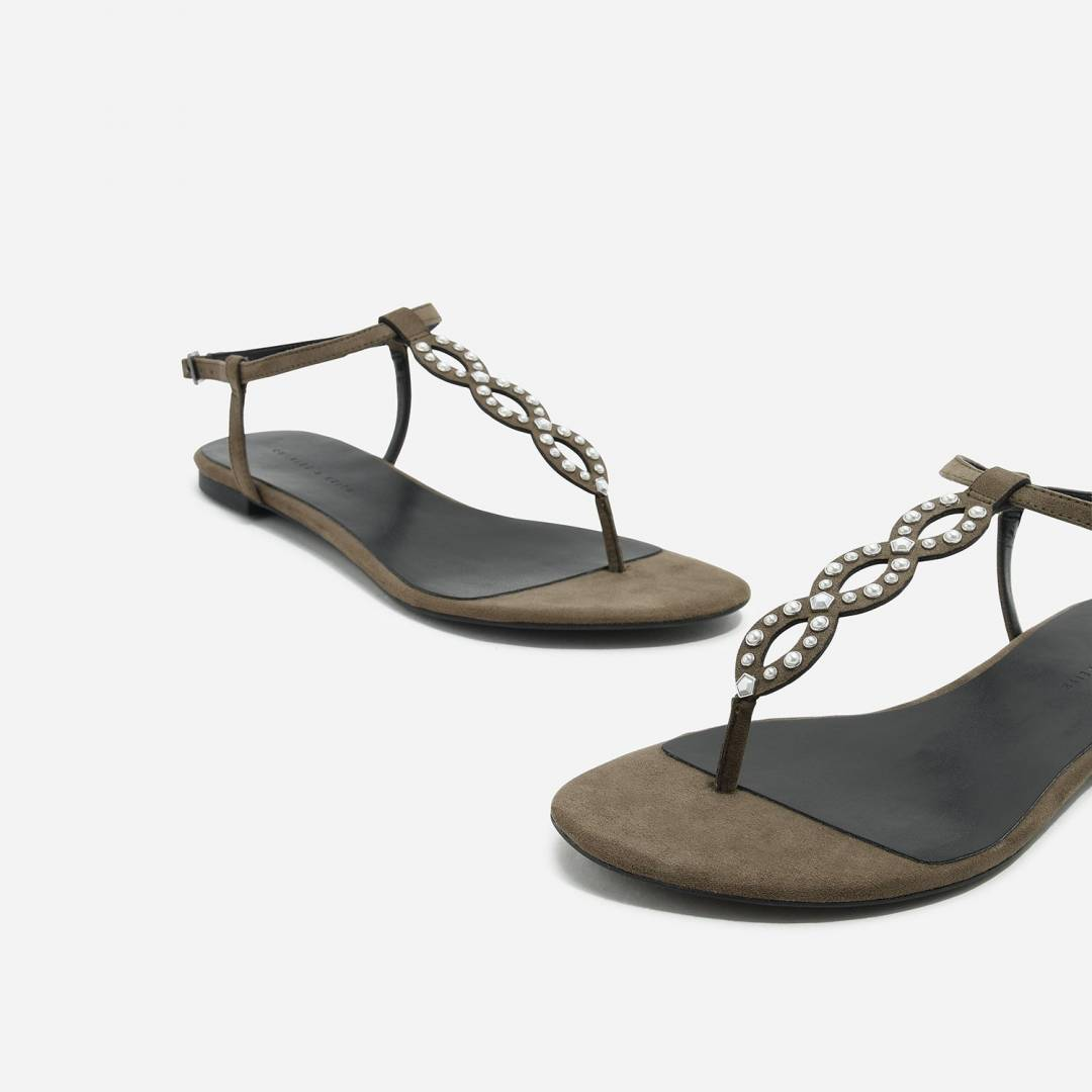 Embellised Thong Sandals