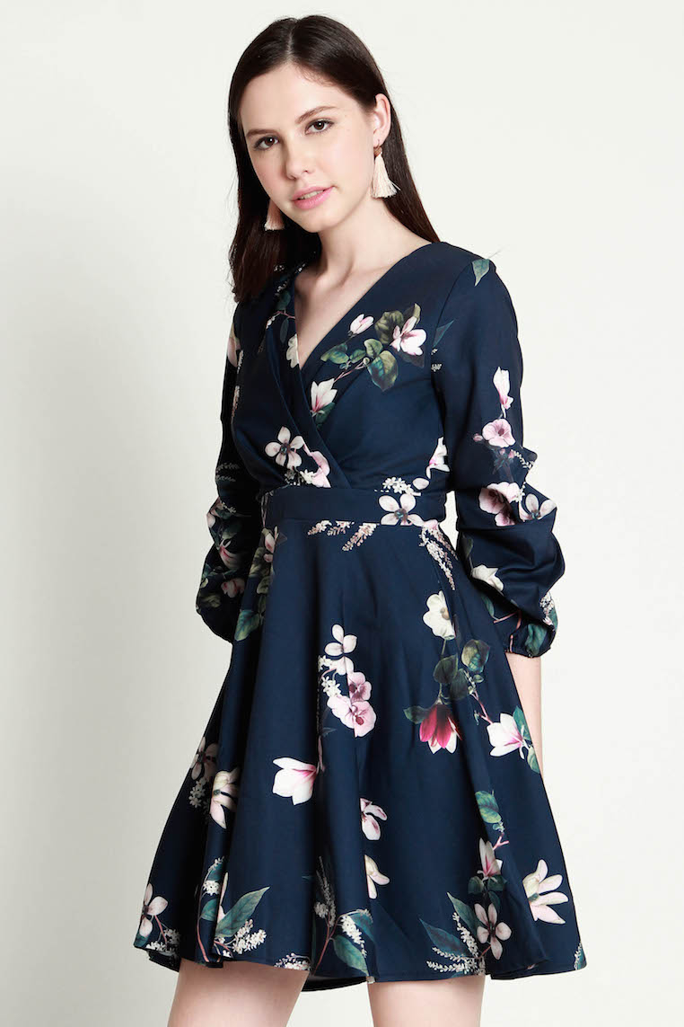 PREMIUM Matilda Floral Swing Dress in Navy [S/M/L] - *LAST in S&M
