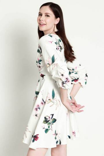 PREMIUM Matilda Floral Swing Dress in White [S/M/L] - *LAST in S&M