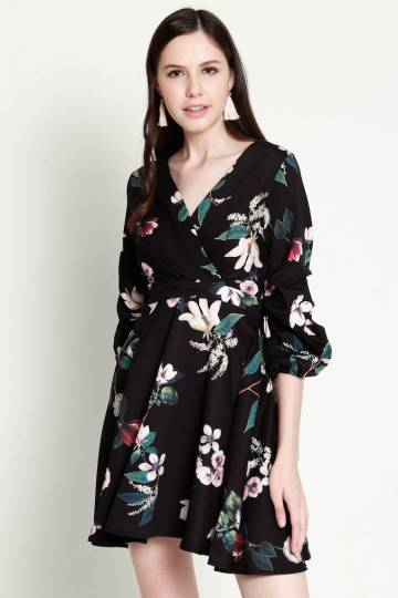 PREMIUM Matilda Floral Swing Dress in Black [S/M/L] - *LAST in S&M