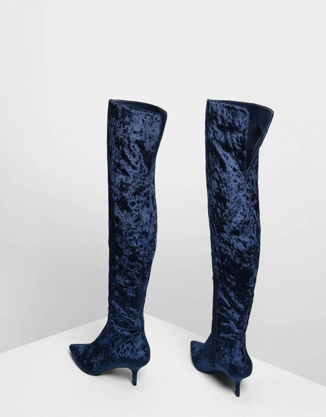 Classic Pointed Thigh High Boots