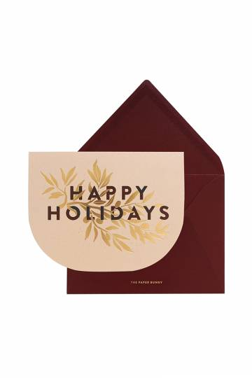 The Paper Bunny: Greeting Cards ~ Have Yourself a Merry Little Christmas Card, Happy Holidays Velvet Card