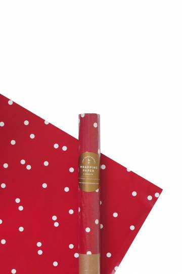 The Paper Bunny: Confetti Red Wrapping Paper