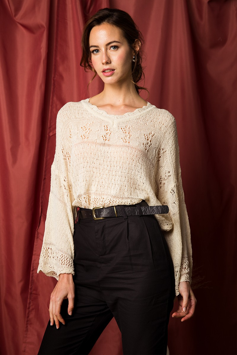 Joie Knitted Pullover in Ivory