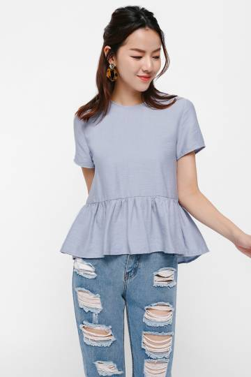 Heti Flare Hem Relaxed Top