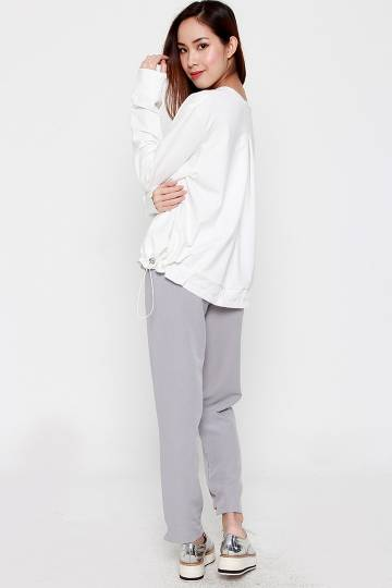 ikuyo 2 in 1 Pants Set in Grey White