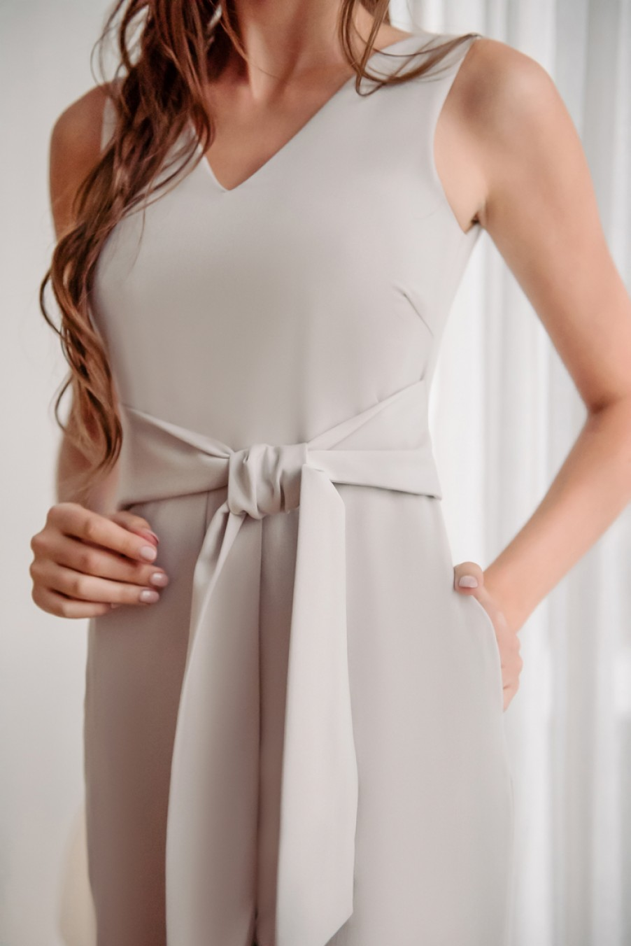 Stylish Opportunity Jumpsuit (Light Grey)