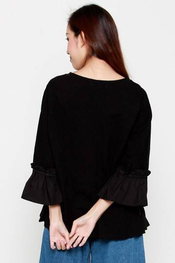 Arielle Flare Top in Black