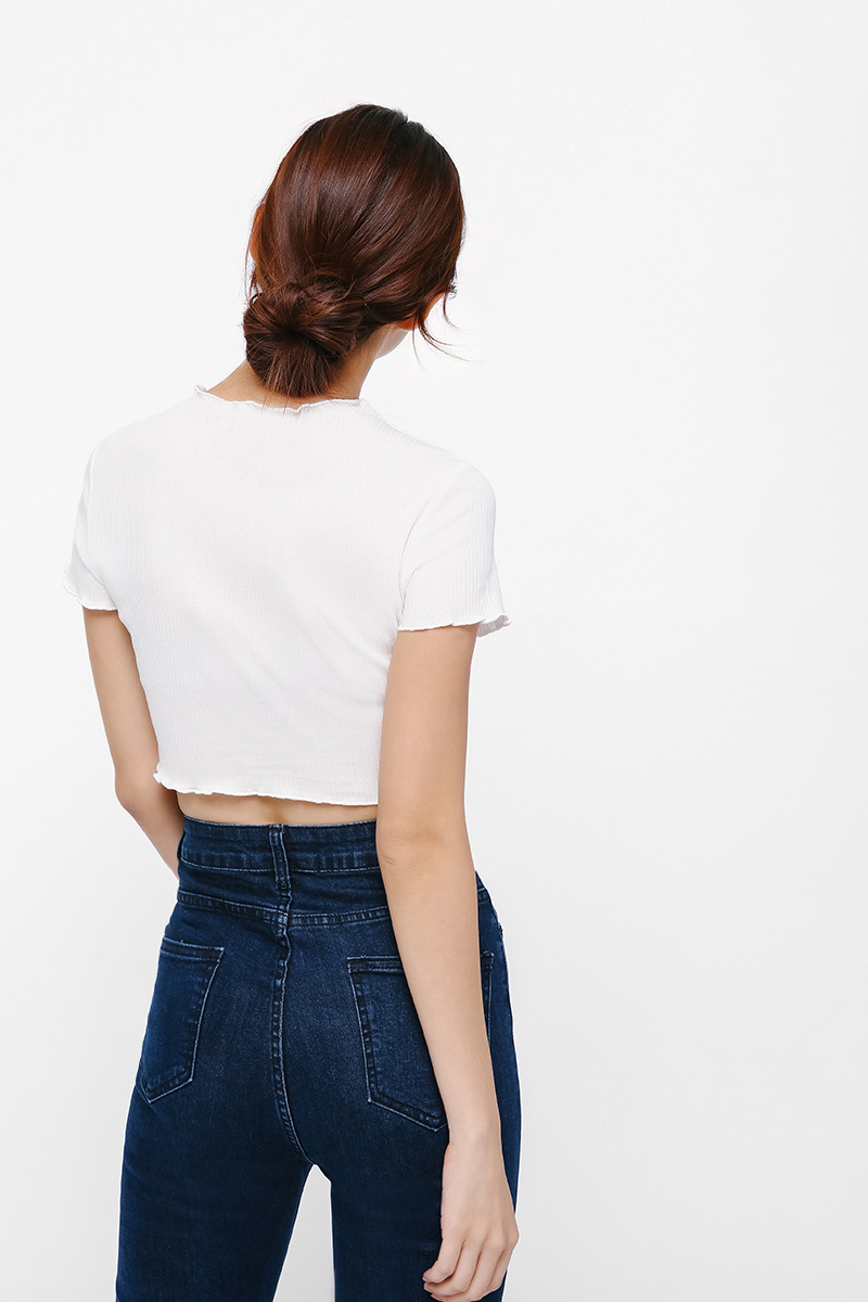 Karen Ribbed Crop Top
