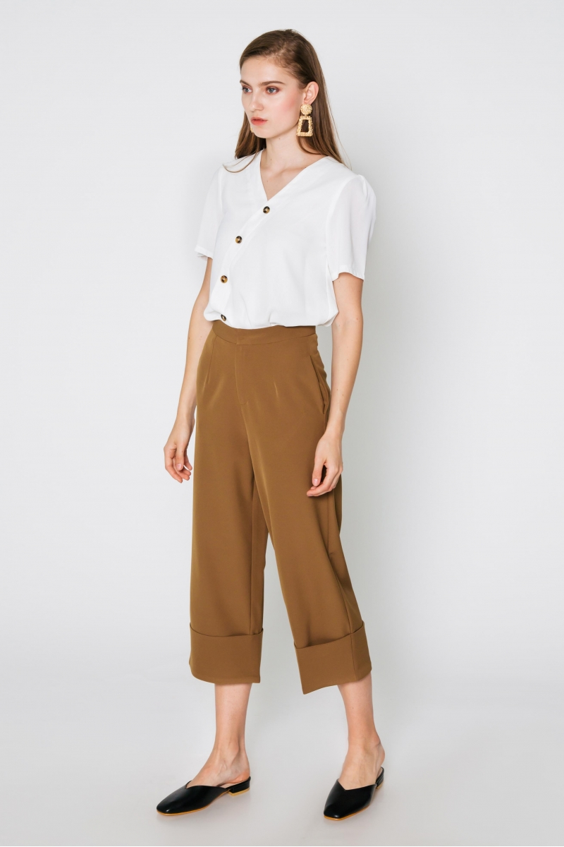 KRISTEN CUFFED PANTS CHESTNUT
