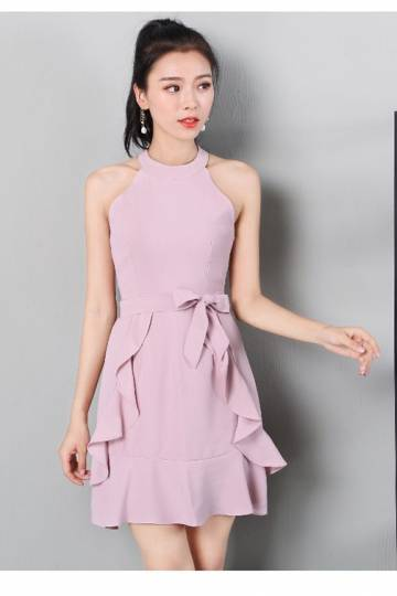 (Pre-order) Melane Ruffle Dress in Pink
