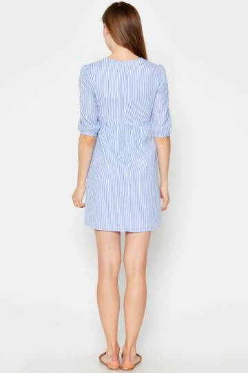 EPPERLY EMBROIDERED DRESS LIGHT BLUE