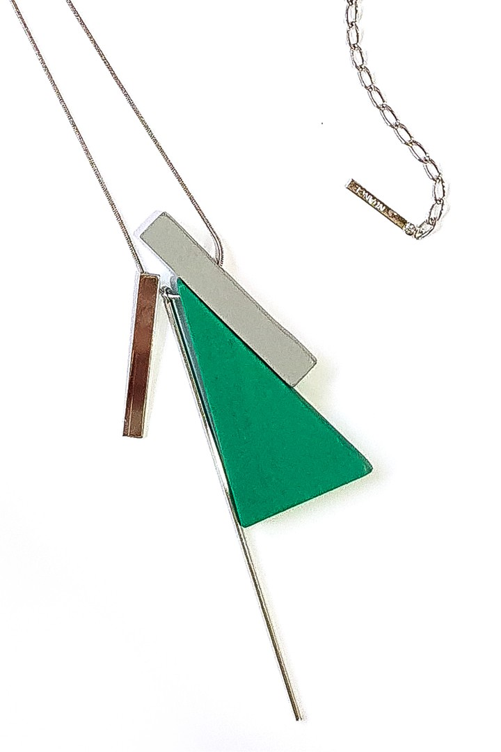 Geometric Green Necklace