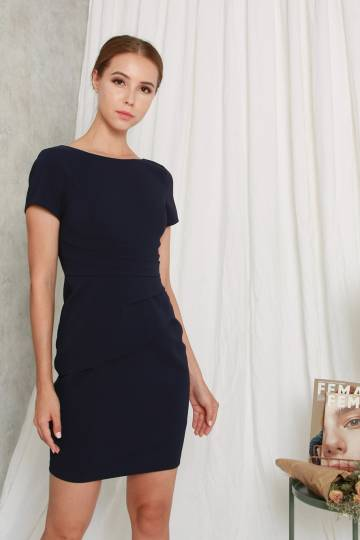 Zavia Sheath Dress Navy