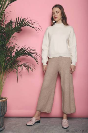 Penny Knit Pants Cocoa (Restock)