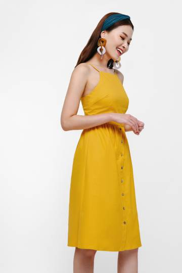 Sorbet A-line Button Down Dress