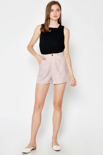 ELLICIA HOUNDSTOOTH SHORTS PINK