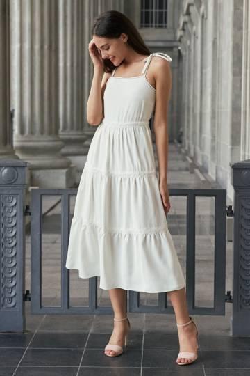 Café Parfait Dress (White)