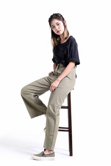 GIA PANTS IN OLIVE