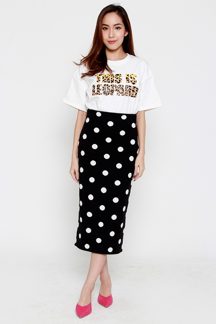 Elea Polka Knit Skirt