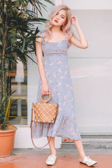 [Restocked] Penny Floral Midi Dress
