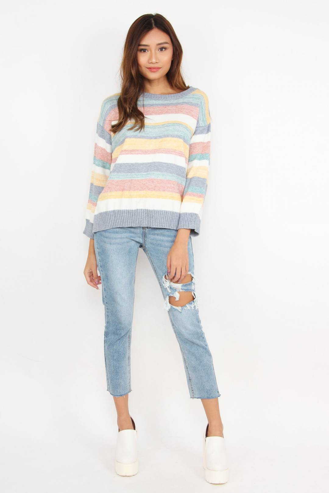 Candy Dreaming Knitted Sweater (Rainbow)