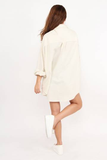 Throw Over Girl Relaxed Shirt (Cream)