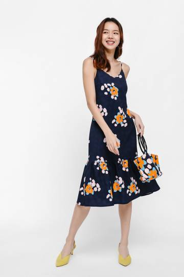 Alexa Printed Flare Hem Dress