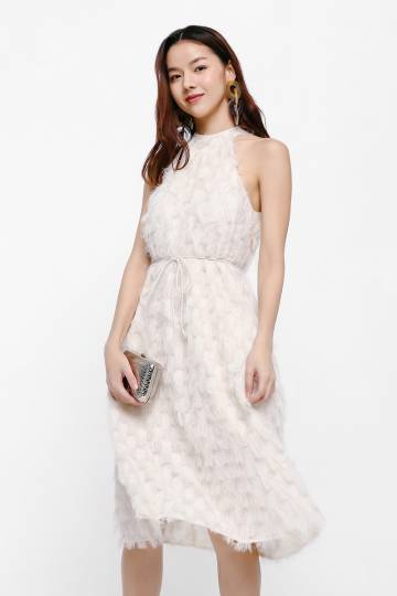 Nika Textured Halter Dress