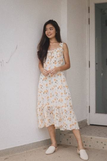 Cordelia Floral Midi Dress