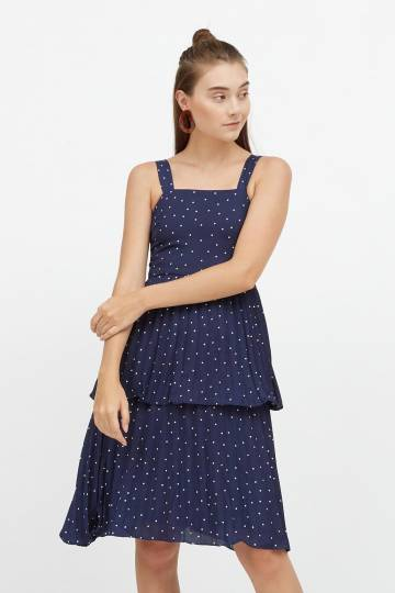 Kathy Tiered Ruffle Midi Dress