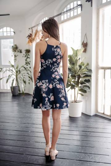 Sprightly In Spring Dress (Navy)