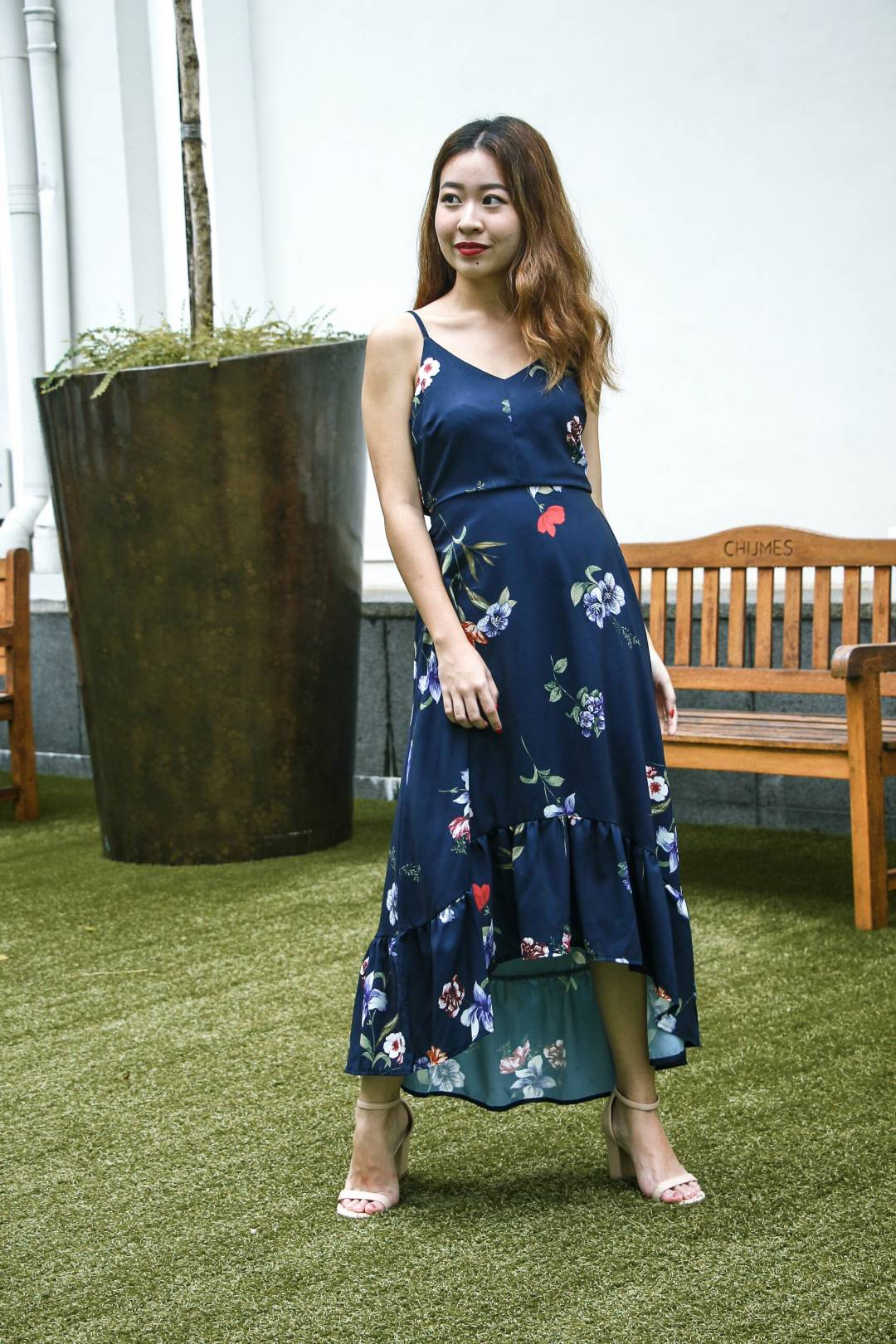 Aveline In Floral Dress (Midnight)