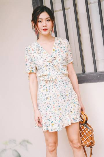 [Backorder] Elsie Floral Ruffled Dress