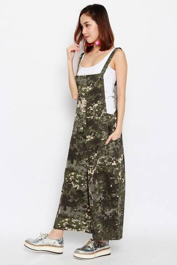 Tory Camo Jumpsuit in Beige