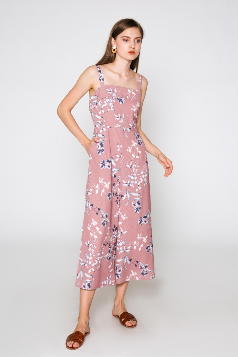 BETHANY FLORAL JUMPSUIT PINK