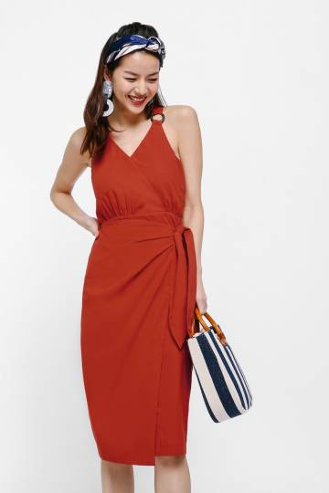 Jessyca Sash Midi Dress