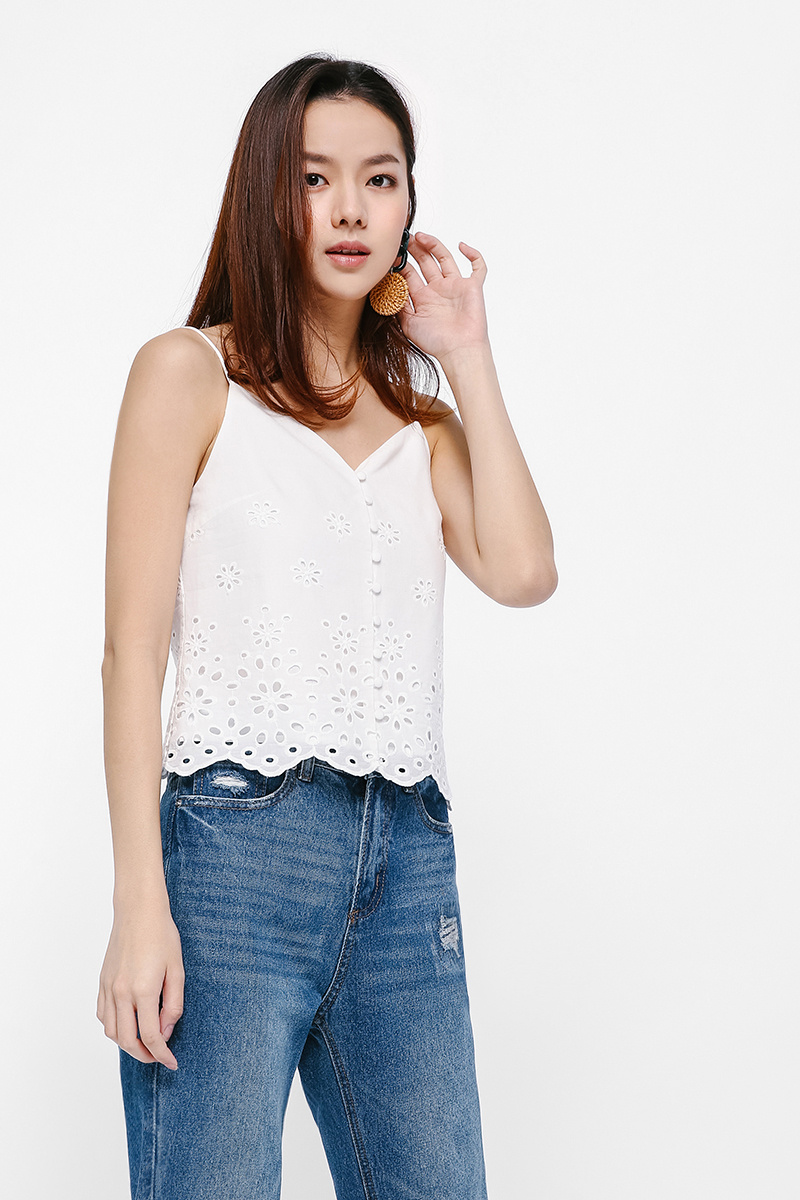 Arden Broderie Anglaise Camisole Top