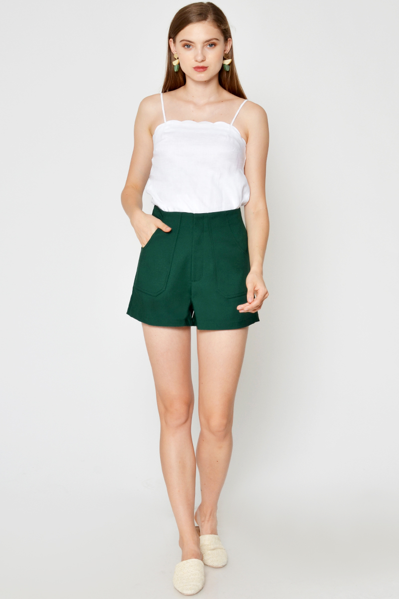 CLOVIA HIGHWAIST SHORTS GREEN