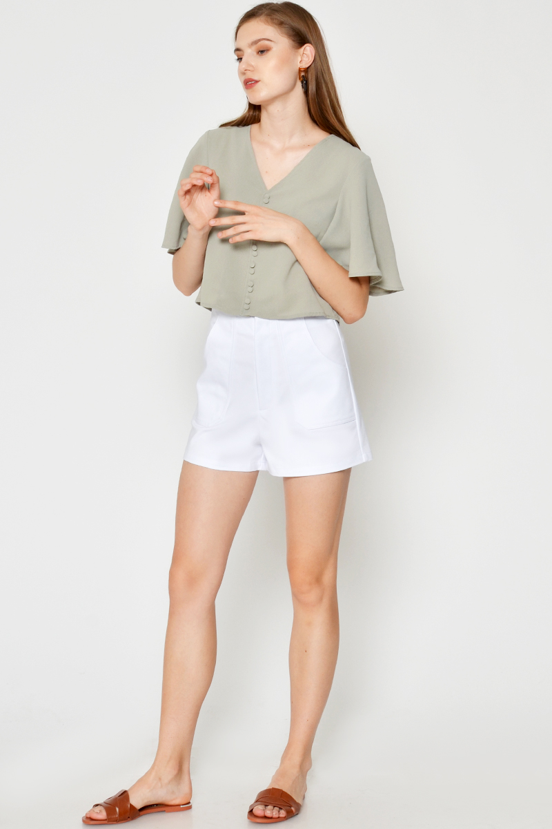 CLOVIA HIGHWAIST SHORTS WHITE