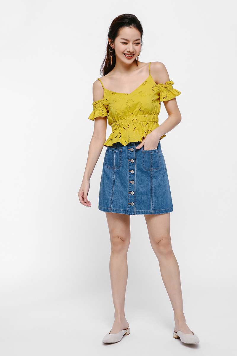 Flynn Cutout Shoulder Top