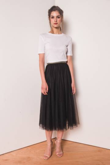 (BACK IN STOCK) Naevia Tulle Skirt in Black