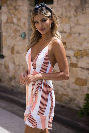 Candystripe Wrap Dress