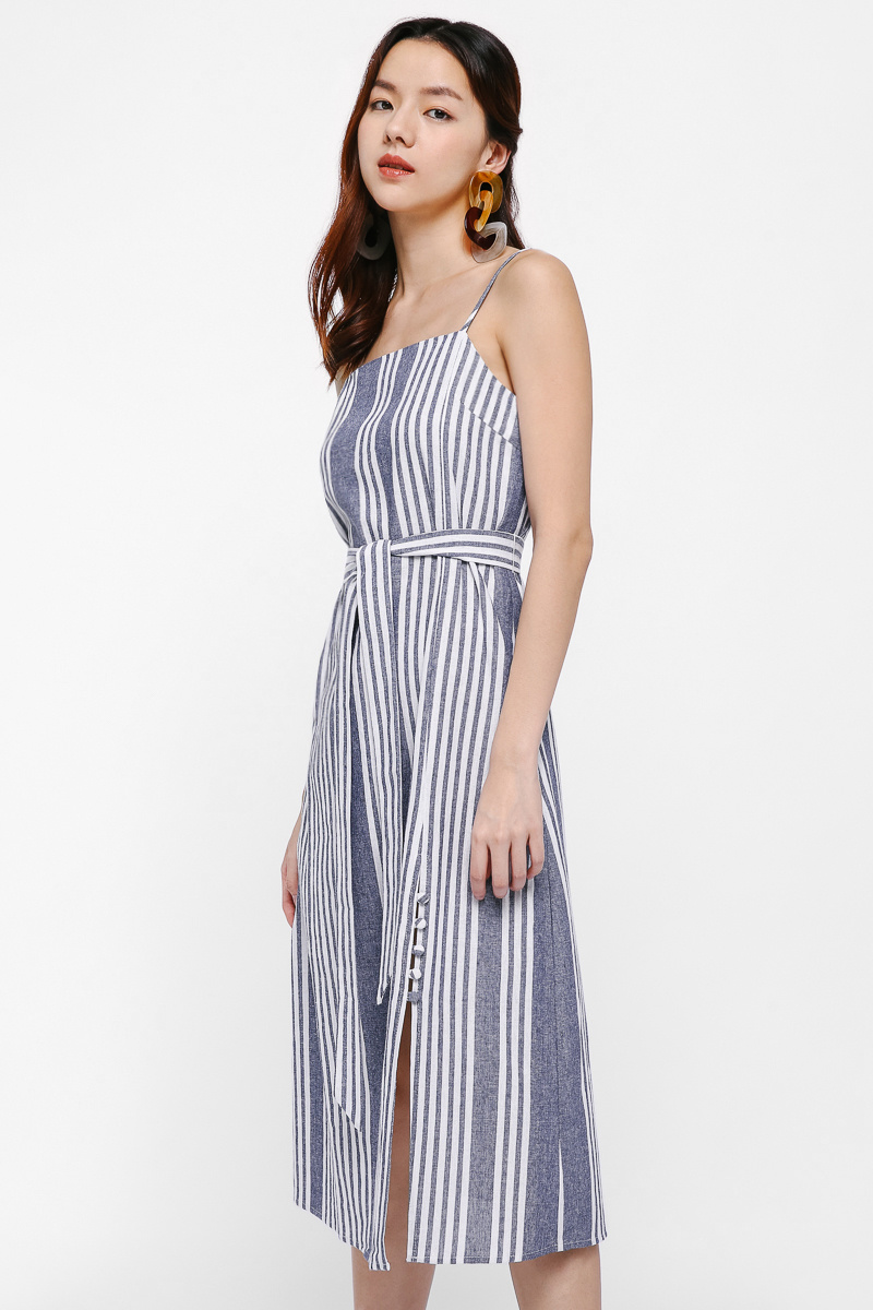 Edina Stripe Summer Midi Dress