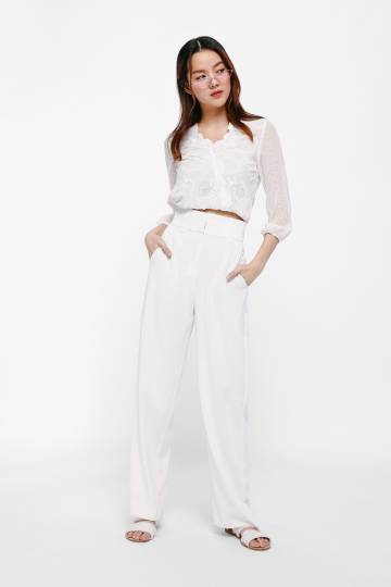 Lani Broderie Anglaise Puff Sleeve Top