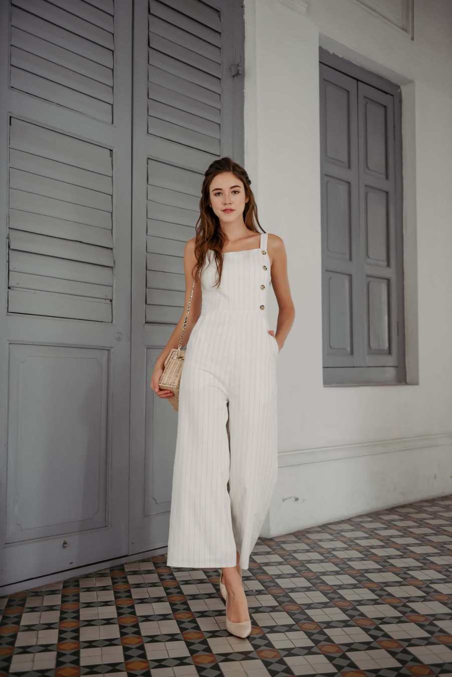Playful Curator Jumpsuit (White)